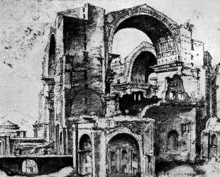 St. Peter's basilica under construction — Мартен ван Хемскерк