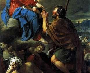 Св. Рох молит Деву Марию о прекращении чумы — Жак Луи Давид