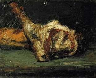 Still Life Bread and Leg of Lamb — Поль Сезанн
