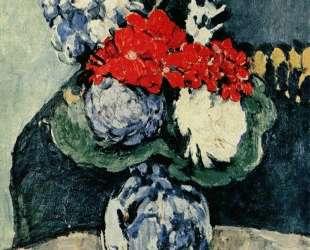 Still life, Delft vase with flowers — Поль Сезанн