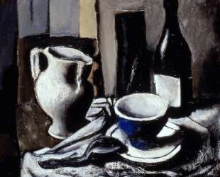 Still life with blue cup — Марио Сирони