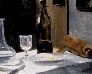 Натюрморт с бутылками — Клод Моне