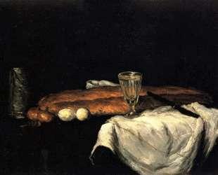 Still Life with Bread and Eggs — Поль Сезанн