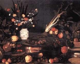 Натюрморт с цветами и фруктами — Караваджо