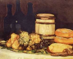 Still life with fruit, bottles, breads — Франсиско де Гойя