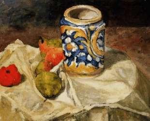 Still life with Italian earthenware jar — Поль Сезанн