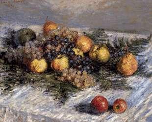 Натюрморт с грушами и виноградом — Клод Моне