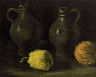 Still Life with Two Jars and Two Pumpkins — Винсент Ван Гог