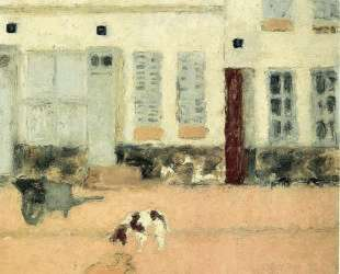 Street in Eragny-sur-Oise or Dogs in Eragny — Пьер Боннар
