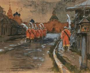 Strelets Patrol at Ilyinskie gates in the old Moscow — Андрей Рябушкин