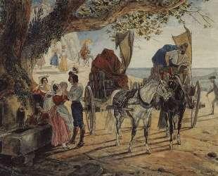 Гулянье в Альбано — Карл Брюллов