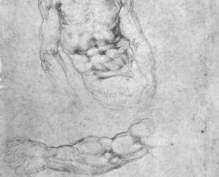Studies for 'Pieta' or 'The Last Judgement' — Микеланджело