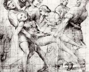 Study for the 'Entombment' in the Galleria Borghese, Rome — Рафаэль Санти