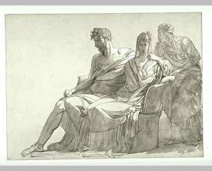 Study for the painting Phaedra and Hippolytus — Пьер-Нарцисс Герен