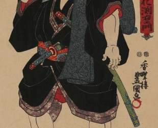 Sumo wrestler Somagahana Fuchiemon — Утагава Кунисада
