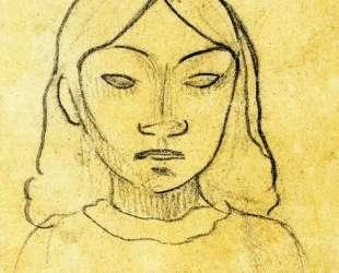 Голова таитянки — Поль Гоген