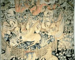 Tapestry of the winged deers — Жан Фуке