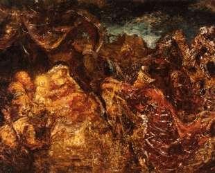 Поклонение волхвов (деталь) — Иероним Босх