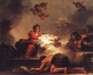 The Adoration of the Shepherds. — Жан-Оноре Фрагонар