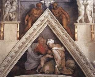 The Ancestors of Christ: Ozias — Микеланджело