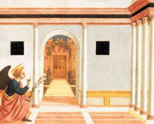 The Annunciation, predella panel from the St. Lucy Altarpiece — Доменико Венециано