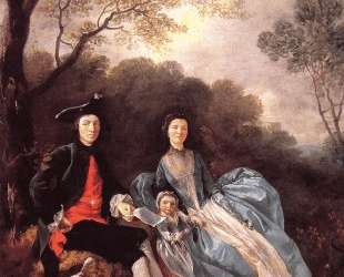 The Artist with his Wife and Daughter — Томас Гейнсборо