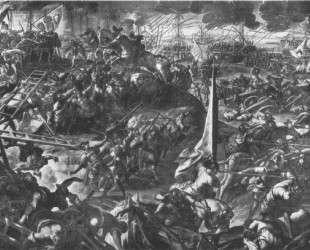 The Battle of Zara — Тинторетто