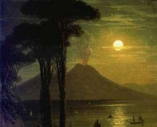 Неаполитанский залив в лунную ночь. Везувий — Иван Айвазовский