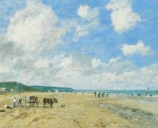 The beach at Deauville — Эжен Буден