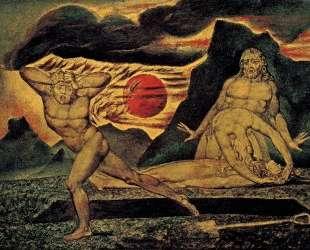 Адам и Ева находят тело Адама — Уильям Блейк