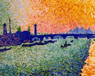 The Bridge, view on the river — Андре Дерен