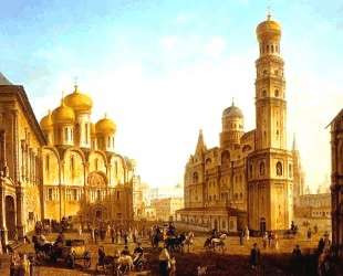 The Cathedral Square in the Moscow Kremlin — Фёдор Алексеев
