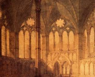The Chapter House, Salisbury Chathedral — Уильям Тёрнер
