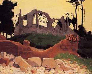 The Church of Souain in Sihlouette — Феликс Валлотон