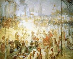 The Coronation of the Serbian Tsar Stepan Dusan as East Roman Emperor — Альфонс Муха