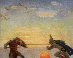 The death of Arthur and Mordred — Ньюэлл Конверс Уайет
