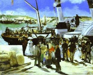 The Departure Of The Folkestone Boat — Эдуард Мане