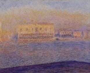 Дворец Дожей, вид с Сан-Джорджо Маджоре, Венеция — Клод Моне