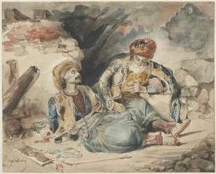 Умирающий турок — Эжен Делакруа