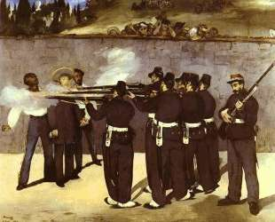 The Execution of the Emperor Maximilian of Mexico — Эдуард Мане