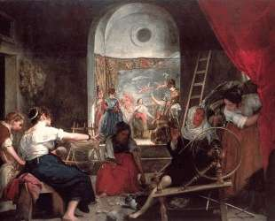 The Fable of Arachne, or The Spinners — Диего Веласкес