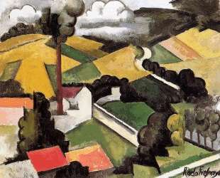 The Factory Chimney, Meulan Landscape — Роже де ла Френе