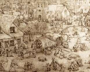 Ярмарка в Хобокене — Питер Брейгель Старший