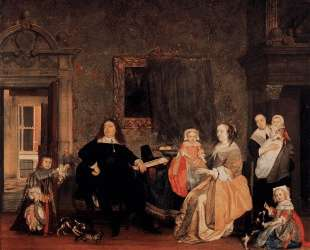 The Family of Jan Jacobsz Hinlopen — Габриель Метсю