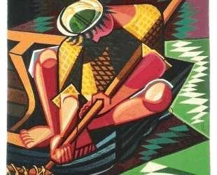 The fisherman, tapestry — Хосе де Альмада Негрейрос