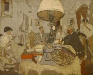 The friends around the table, St. Jacut — Эдуар Вюйар