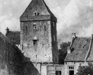 The Goilberdingenpoort in Culemborg Su — Иохан Хендрик Вейсенбрух
