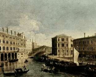 The Grand Canal at Rialto — Каналетто