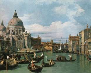The Grand Canal at the Salute Church — Каналетто