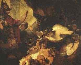 The Infant Hercules Strangling Serpents in His Crade — Джошуа Рейнольдс